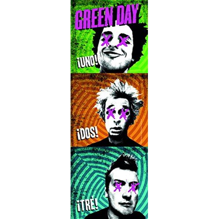 LPG International Green Day 1-2-3 Fabric Wall Poster, 20.5 by 58-Inch - image 1 de 1