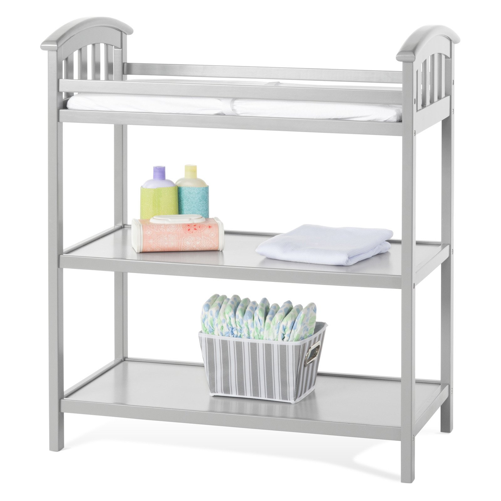 Delaney Dressing Table, Cool Gray