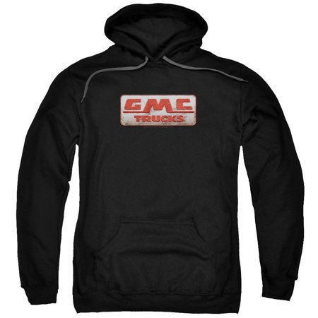 Gmc - Beat Up 1959 Logo Adult Pull-Over Hoodie - Adult Pull-Over Hoodie / 2XL / Black