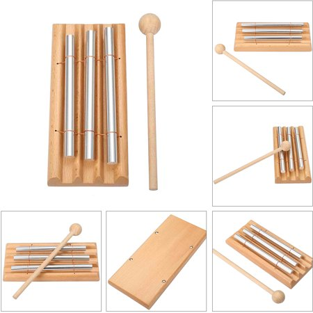 Meditation Chime,MOHOO Energy Chimes Trio Chime Three Tone Percussion Instrument with Mallet (Chime Mallet)