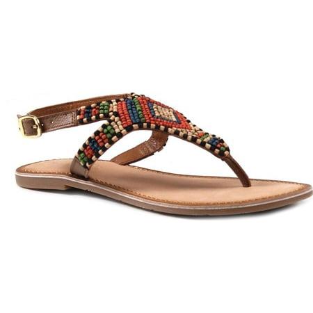 6e1390327f00 Women s Diba True Red Row Thong Sandal Black Leather 8 M - image 1 ...
