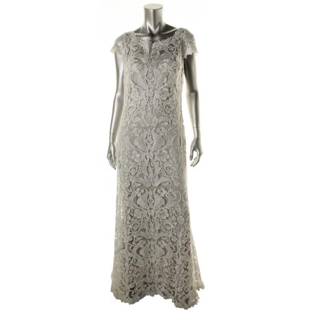 Tadashi Shoji Womens Metallic Sheath Formal Dress Walmart