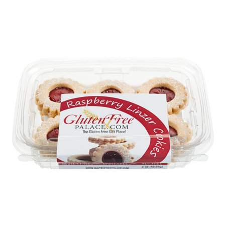 Gluten Free Palace Linzer Cookies With Raspberry Jam, 6 Oz, Gluten Free Cookies, Dairy Free, Nut Free & Kosher (Pack of 12)](Non Dairy Halloween Treats)