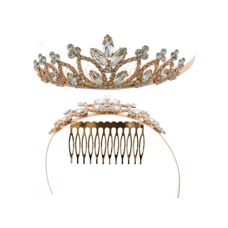 Fashion Accessory Rose Gold  Plating Princess Tiara](Real Princess Tiaras)