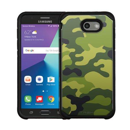(Samsung Galaxy J7 Sky Pro Hybrid Slim Case - Camouflage Green Yellow)