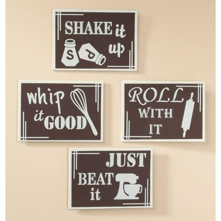 Kitchen Metal Wall Art Set of 4