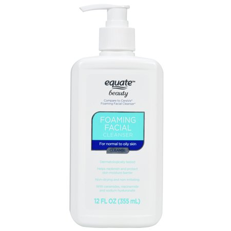 (2 Pack) Equate Beauty Foaming Facial Cleanser, 12