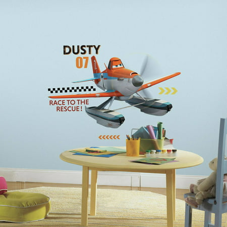 Planes Fire and Rescue Dusty Peel and Stick Giant Wall Decals