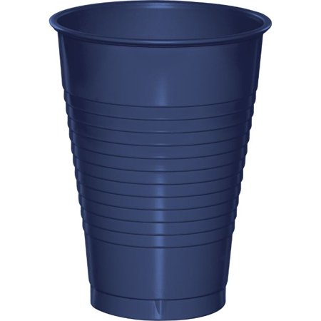 Touch of Color Plastic Cups, 12 Oz, Navy, 20 Ct - Plastic Pirate Cups