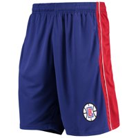 LA Clippers Majestic Big & Tall Birdseye Shorts - Royal/Red
