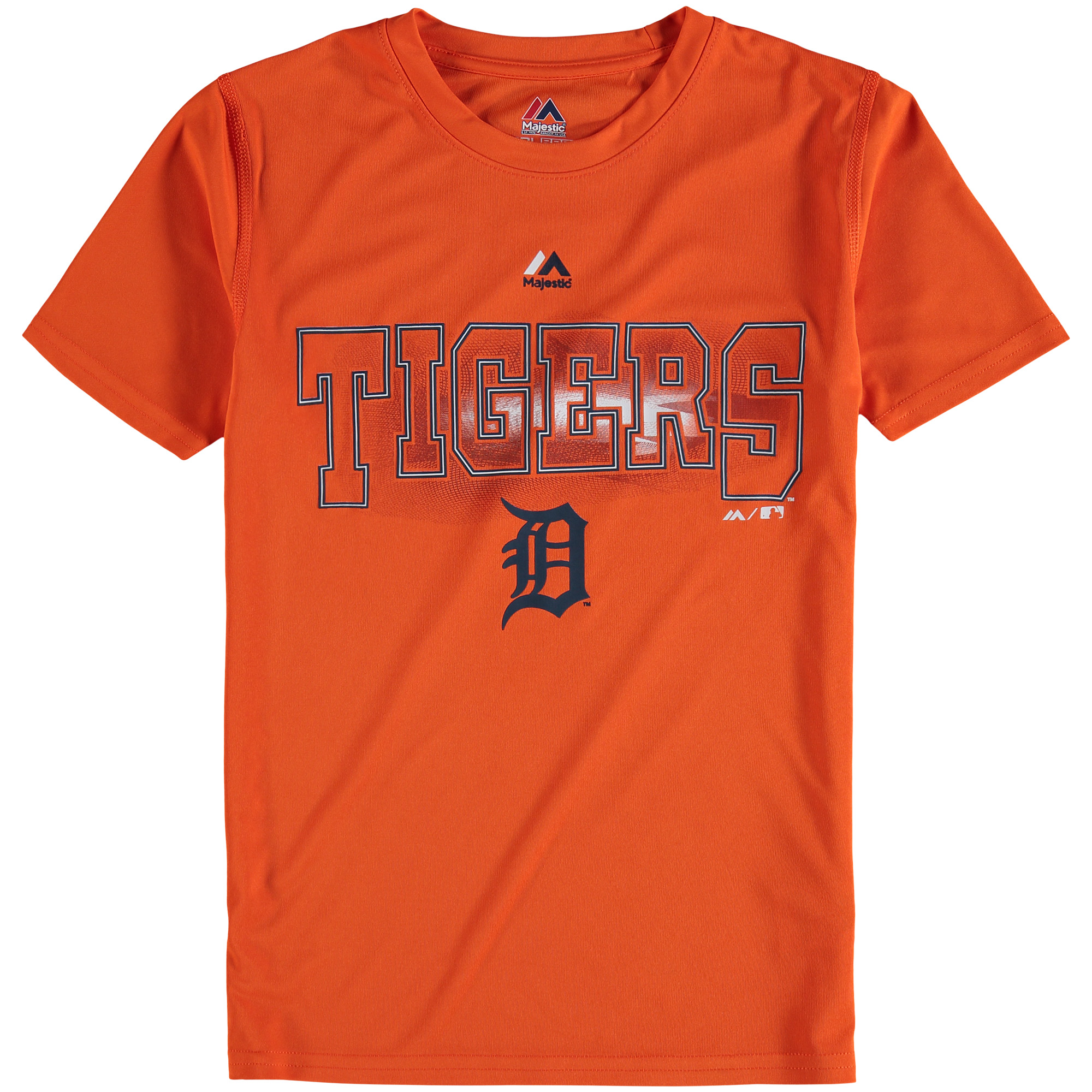 Detroit Tigers Majestic Youth Light Up the Field T-Shirt - Orange