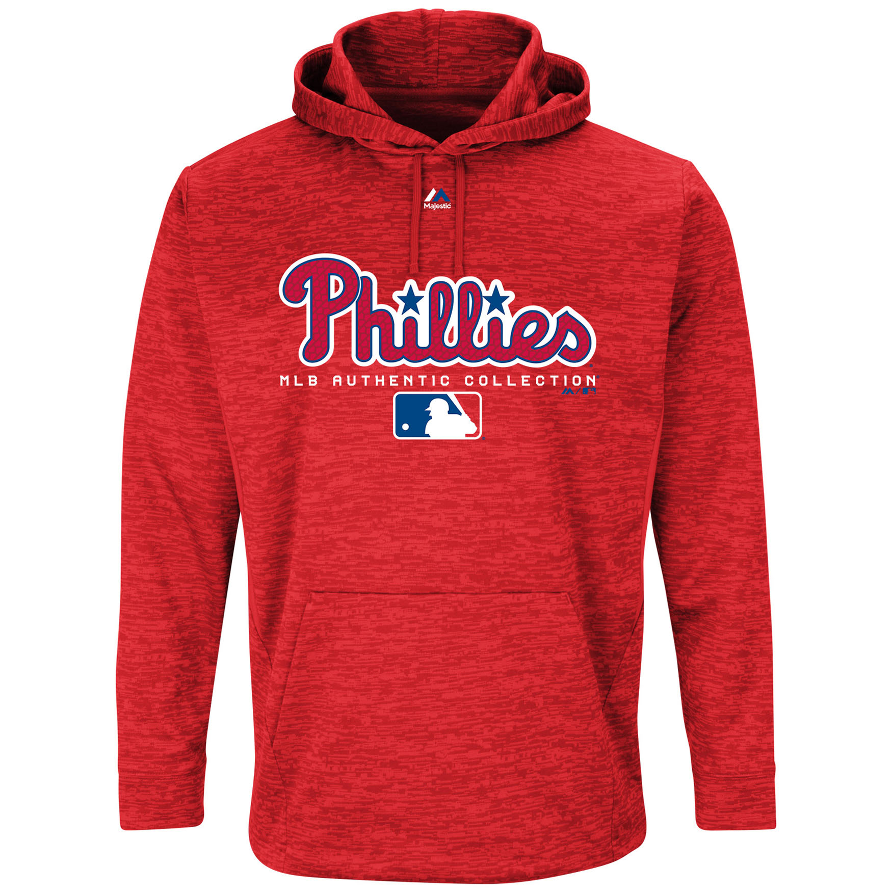 Philadelphia Phillies Majestic Authentic Collection Team Drive Ultra-Streak Fleece Pullover Hoodie - Red