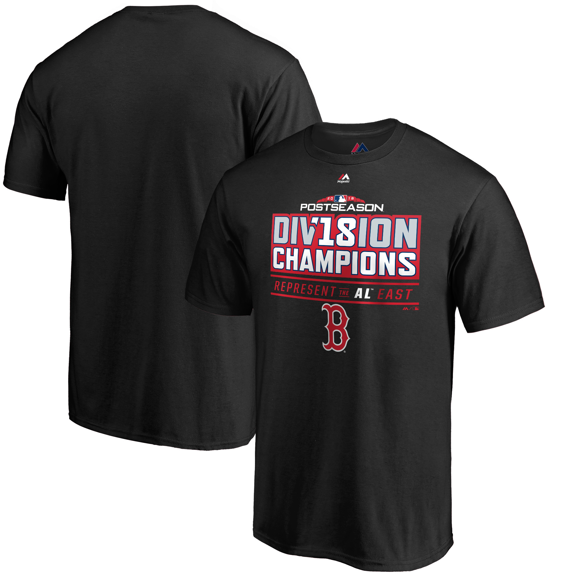 Boston Red Sox Majestic 2018 AL East Division Champions Runner T-Shirt - Black