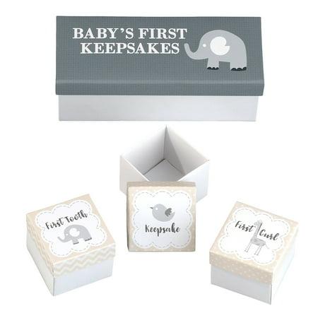 Babys First Keepsake Box (Lillian Rose Set of 3 Baby's First Keepsakes Boxes )