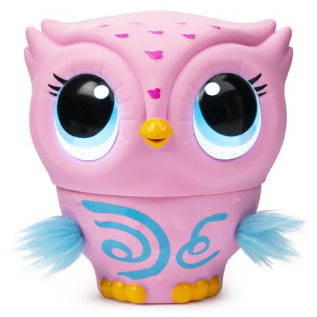 Owleez, Flying Baby Owl Interactive Toy with Lights and Sounds (Pink), for Kids Aged 6 and Up