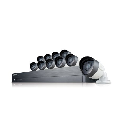 Samsung 16 Channel Security System  2Tb Hd  10 1080P Cameras  82 Night Vision