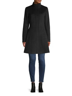Seam Wool-Blend Coat