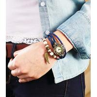 Leather Charm Bracelet Watch