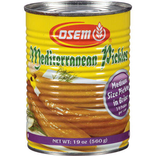 Osem Mediterranean Pickles, 19 oz, (Pack of 6)