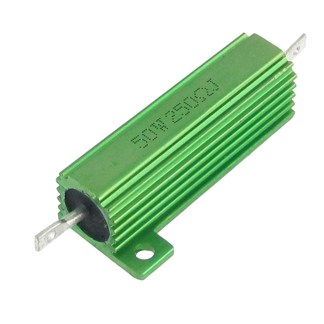 Green Aluminum Case Wire Wound 50W 5% 250 Ohm Resistors 2 Pcs - image 1 of 1