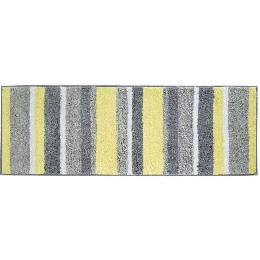 InterDesign Microfiber Stripz Bath Rug, 60 x 21