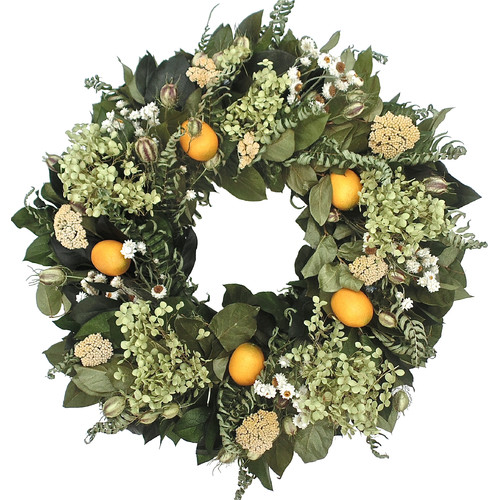Dried Flowers and Wreaths LLC 22'' Lemon Wreath