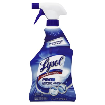 Lysol power bathroom cleaner spray 28 ounce walmartcom for Lysol power bathroom cleaner