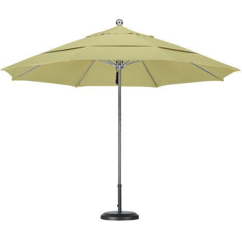 California Umbrella 11' Steel Single Pole Fiberglass Ribs Market Umbrella