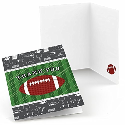 Awesome End Zone   Football   Baby Shower Or Birthday Party Thank You Cards (8 Count