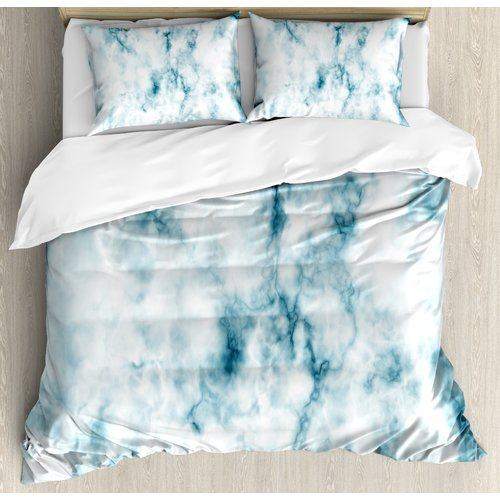 Ordinaire Ambesonne Apartment Fluffy Cloud Skyline Like Marble Motif With Grunge  Features Art Image Duvet Cover Set   Walmart.com
