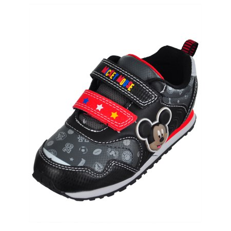 Disney Mickey Mouse Boys' Light-Up Sneakers (Sizes 6 - - Disney Shoes