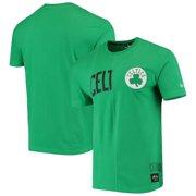 Boston Celtics New Era Wordmark Logo Cut & Sew Applique Brushed T-Shirt - Kelly Green