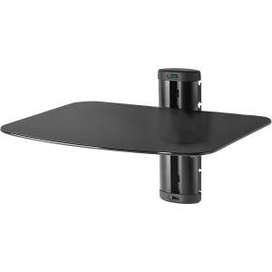 Peerless-AV ESHV20 Mounting Shelf for A/V Equipment – 30 lb Load Capacity – Black BLACK FOR AV COMPONENT