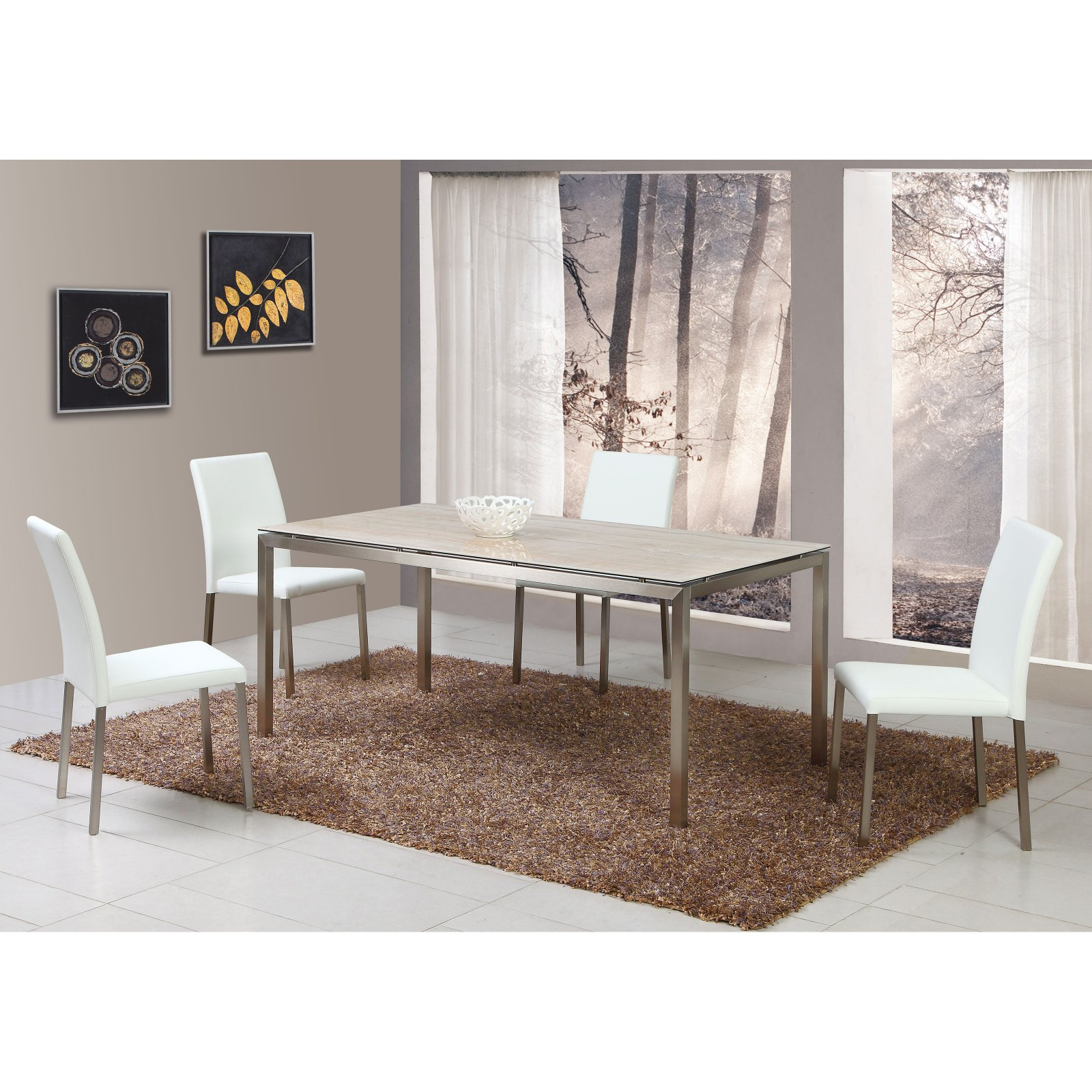 Chintaly Claudia Ceramic Rectangular Dining Table