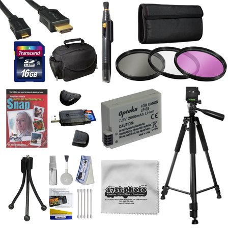 Best Value Kit for Canon 6D 60D 60Da 70D & 5D Mark III Includes 16GB SDHC Card + Battery + Charger + 3 Piece Filters + Gadget Bag +Tripod + Lens Pen + Cleaning Kit + DSLR DVD +