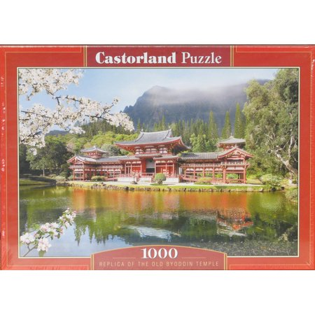 Temple Pc (Castorland Old Byodin Temple 1000 pc Jigsaw Puzzle Cherry Blossoms)