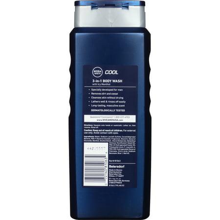 Best NIVEA Men Cool 3-in-1 Body Wash 16.9 fl. oz. deal