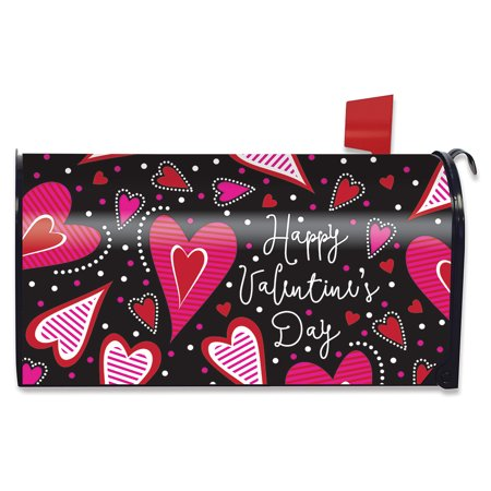 Dancing Hearts Valentine's Day Magnetic Mailbox Cover Primitive Standard for $<!---->