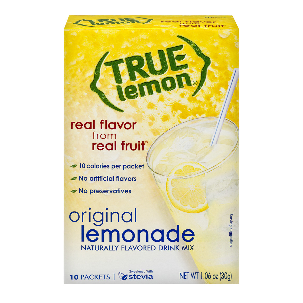 True Lemon Drink Mix, Lemonade, 10 Packets, 1 Box