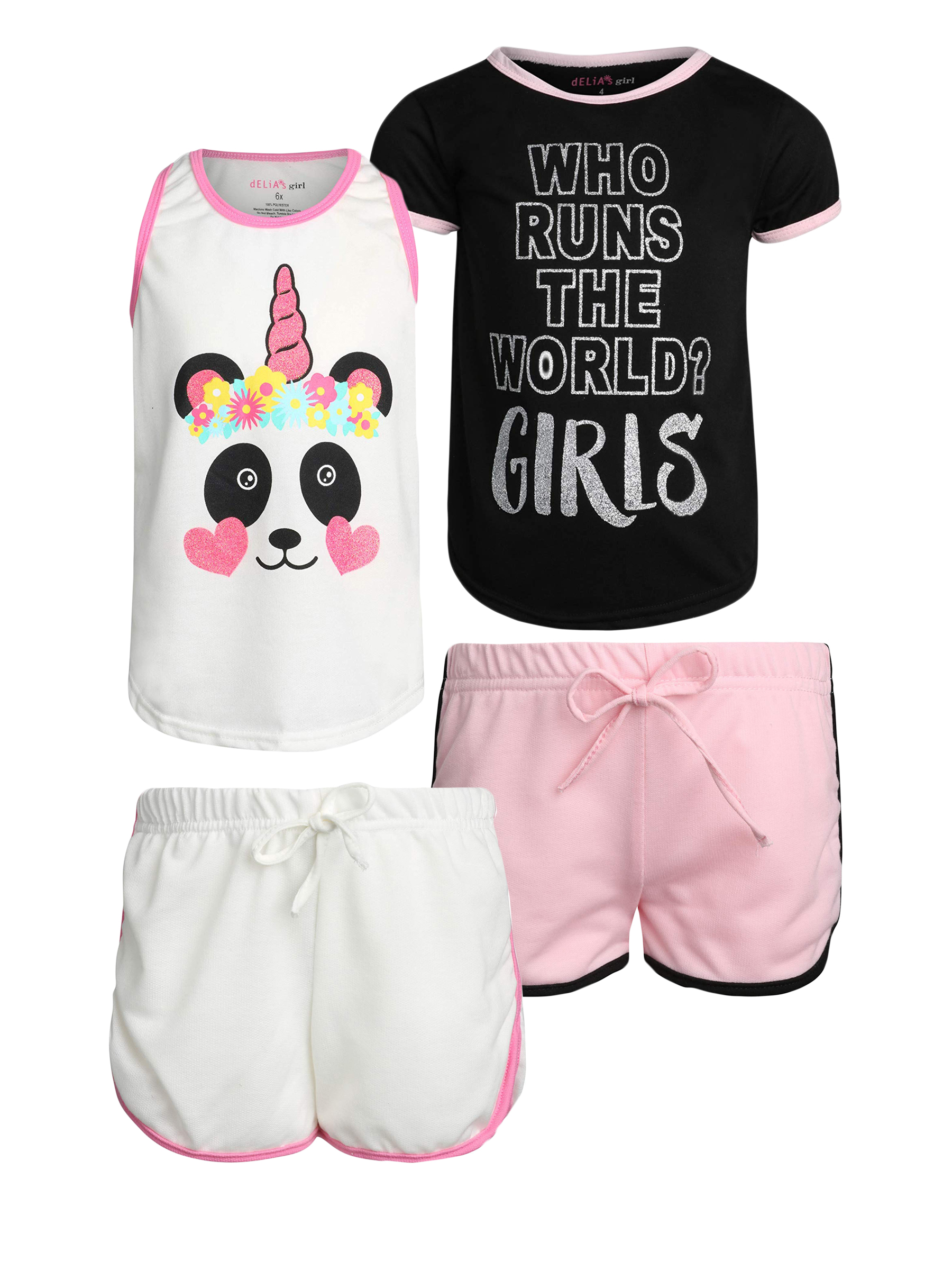 dELiAs Girls 3-Piece Sleep Shirt and Short Pajama Set