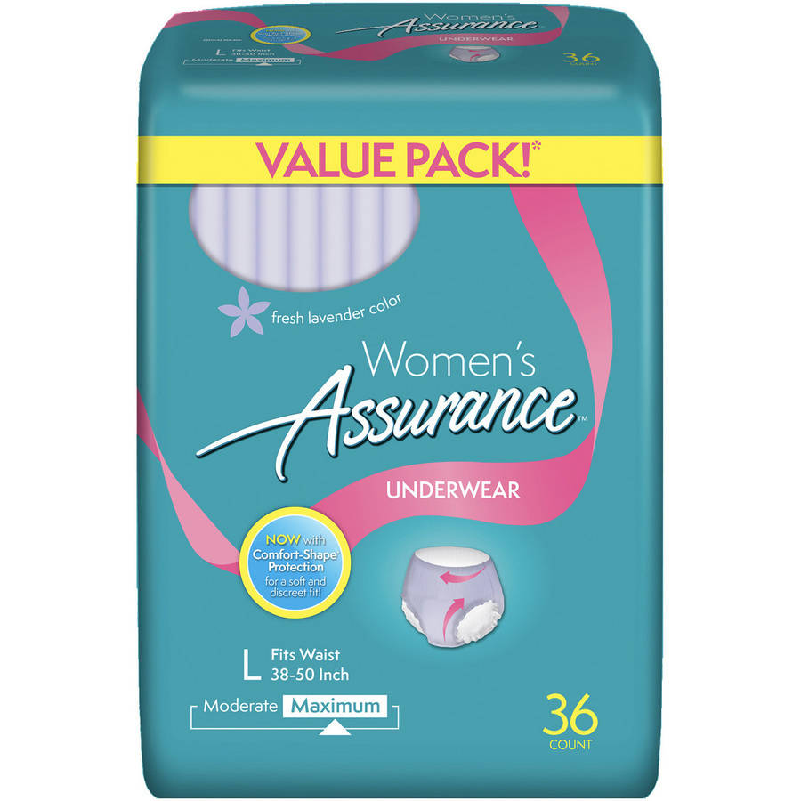 Assurance for Women Maximum Absorbency Protective Underwear, Large, 36 count