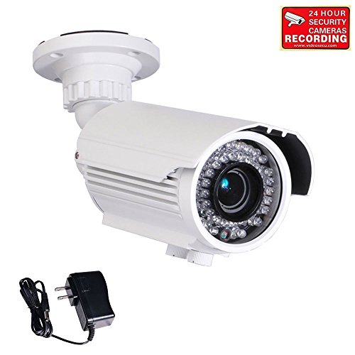VideoSecu Zoom 700TVL Built-in 1/3'' Sony Effio CCD Bullet Security Camera High Resolution Day Night Outdoor 42 IR Infra