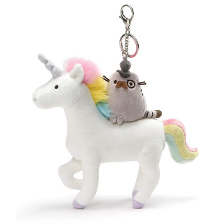 Clip Keychain (GUND Pusheen Fancy and Unicorn Magical Kitties Plush Deluxe Keychain Clip, Multicolor,)