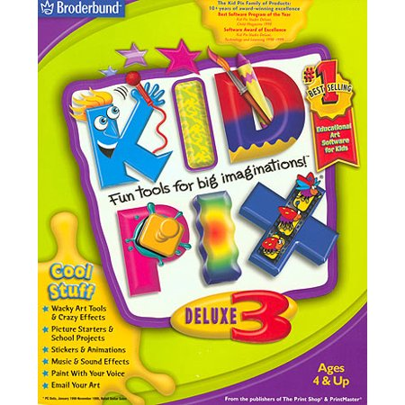 Kid Pix Deluxe 3 for Windows/Mac- XSDP -456511 - Kid Pix Deluxe 3 is the most comprehensive set of fun and innovative, computer-based art tools and projects ever created. Young kids will love (Best Screen Capture Tool For Mac)