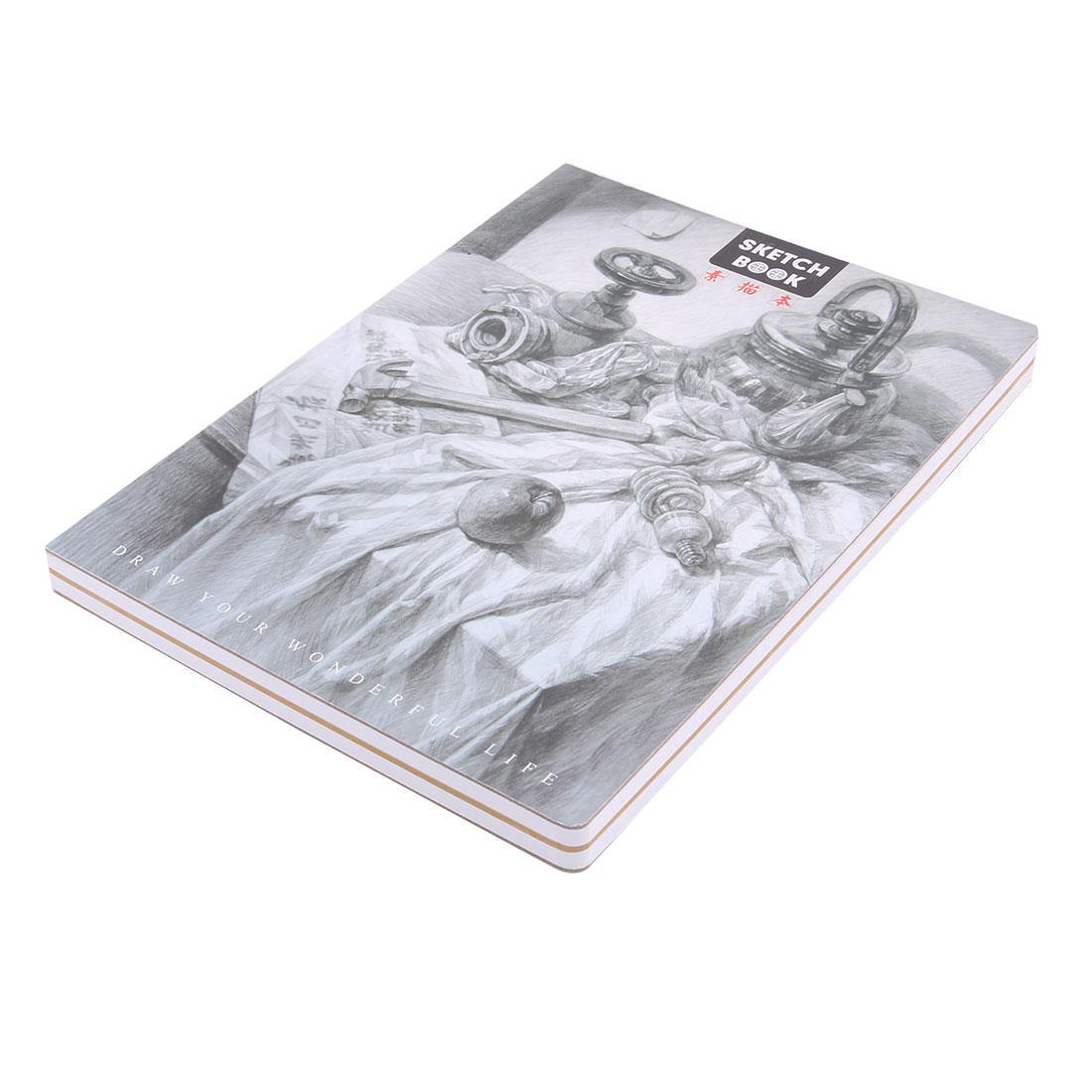 DELIJIA Authorized Gypsum Portrait Pattern Cover A4 Paper Sketch Book 112 Sheets