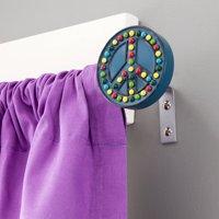 "Kenney Peace Kids Window Curtain Rod, 5/8"" Diameter, 28-48"" Length, Multi"