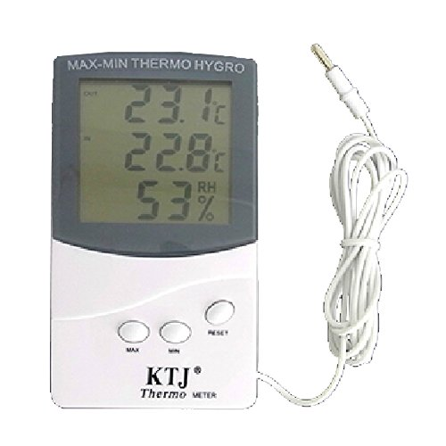 BIPEE TA318A In-Out door Digital Thermometer with 1.5M Sensor Line Humidity Display Electronic Temperature Meters