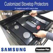 Samsung Stove Protector Liners - Stove Top Protector for Samsung Gas ranges - Customized - Easy Cleaning Stove Liners NX58K7850SS