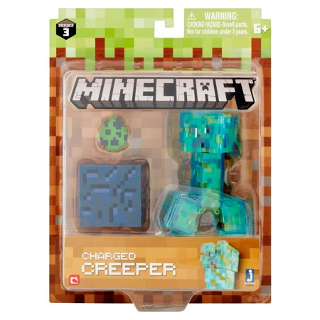 Jazwares Minecraft Series 3 Charged Creeper Figure 6+](Minecraft Creeper Toy)