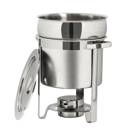 Ktaxon 7L / 7.4QT Silver Round Chafing Dishes Buffet Set Chafer for Patty/ - Round Chafing Dish